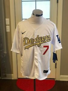 Los Angeles Dodgers #7 Julio Urias Gold World Series Champions Jersey