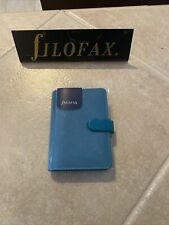 Nwt Filofax Saffiano Mini Organizer Aquamarine 028774 New 5 Ring
