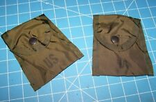 2 Military Pouches Compass First Aid LC2 Case Army USMC Like Vietnam Era w P38