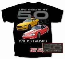 Life Begins at 5.0 Mustang T-Shirt * Fox Body & Fastback Mustangs * Free US Ship