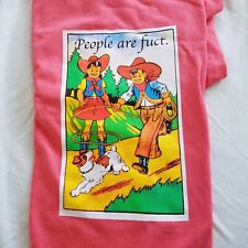 FUCT - People Are Fuct NEW, Never Worn, Coral Medium Tshirt