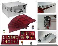 Look Sammelkoffer Gigant RED MIX Militaria 10 Tableaus 102 Fächer für Orden