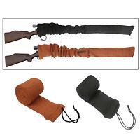 Tourbon 2 Packs Gun Socks Rifle Shotgun Sleeves Hunting Storage in Black+Orange