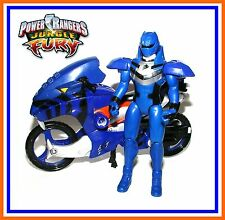 Power Rangers Jungle Fury _ Blue Jaguar Ranger w/ Strike Rider Motorcycle