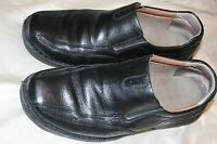 Clarks Mens Black Leather Slip On Loafers Shoes size 11 M 87772 Casual or Dress