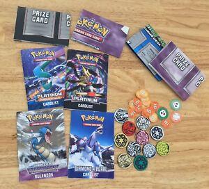 Pokemon TCG Rulebooks, Card Lists, Playmat PLATINUM/RISING RIVALS/Diamond&P Lot