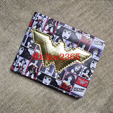 2017 Wonder Woman Gold Logo Wallet Purse Bifold Faux Leather Cosplay Gift New