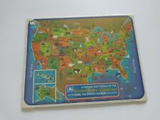 Golden A Picture Map Puzzle of the United States of America Name States 1968