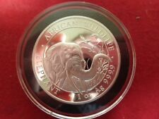 2018 Somalia 1 oz Silver Coin  Elephant Series in Black Airtite