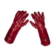 Sealey Red PVC Gauntlets 450mm - Pack of 120 Pairs Garage Workshop DIY