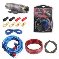 1200W 17ft Cable De Bajo Amplificador Kit 18GA Audio RCA Sub FUSE Wiring Wire