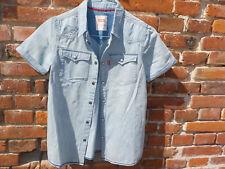 Chemise *LEVIS, jean, manches courtes, bleu clair, 12 ans