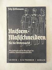 Fritz Hiddemann: Uniform-fatta per la Wehrmacht * 1938 * COPIA COPY