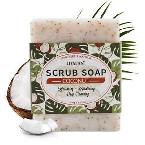 Natural Scrub Herbal Handmade Soap Shrink Pores Exfoliating Skin Whitening