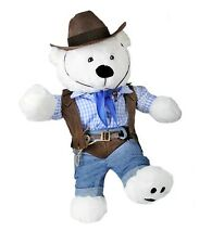 """Cowboy Outfit 5 piece set inc cowboy hat clothes to fit 15"""" build a bear plush"""