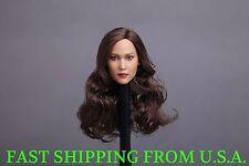 1/6 American Female Head Sculpt For For PHICEN Hot Toys Custom Figure ❶USA❶