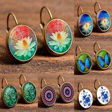 Elegant Fashion Women Crystal Rhinestone Flower Ear Stud Girls Lady  Earrings