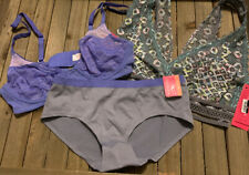 Purple Gray Lacy Bralette Bra Panty Lot NWT Free Shipping Extra Small