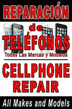 Poster Spanish Cell Phone repair 24x36 advertising poster sign