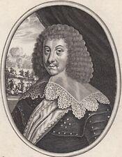 Portrait XVIIe Louis de Bourbon-Soissons Seigneur De Condé Gouverneur Moncornet