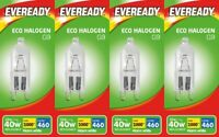 4x Eveready Eco Halogen G9 Capsule Bulb 33W (40W) 220-240V 2 Pin - Warm White