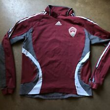 Men's Adidas Formotion Colorado Rapids MLS Maroon Red Warm Up Sweatshirt Sz XL
