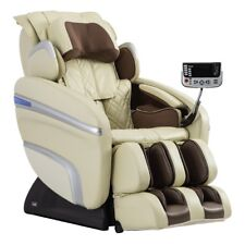 Osaki 7200H Pinnacle Quad Roller Massage Chair Zero Gravity Recliner Heat Cream
