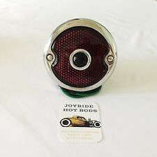 1933-36 Ford Tail Light - R/H -Polished S/S - Blue Dot Lens