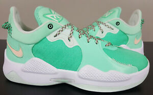 NIKE PG 5 ALL STAR PAUL GEORGE BASKETBALL SHOES GREEN GLOW CW3143-300 (SIZE 14)