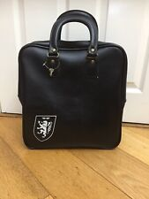 Vintage Black Bowling Bag Lockable Cheney Mod Lion (n5) Made In England