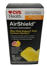 AirShield CVS Health Immune System 32 Chewable Tablets citrus flavor   08/21