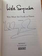 You Must Set Forth At Dawn,1st Edition. Signed By Wole Soyinka.