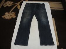 Vintage Mens Levi's 514 Straight Jeans Blue - 38 x 32 - Ripped Levis Zipper used