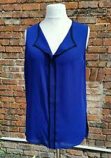 Size 14, Royal Blue Sleeveless Blouse, shirt, Papaya