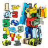 DIY 15Pcs Numbers Set Armour Team Transform Robot Puzzle teaching Toy Kids Gift