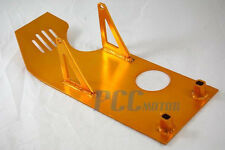 GOLD SKIDPLATE SKID PLATE UNDER ENGINE PIT BIKE XR50 CRF50 DIRT BIKES P SP07