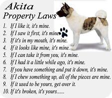 Akita Dog Breed Rules - Computer Desktop / Laptop / Home Office Desk Mousepad