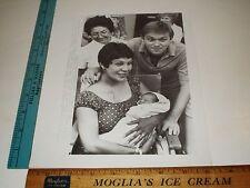 Rare Original VTG Waltons Richard Thomas Wife Alma New Baby Richard Photo