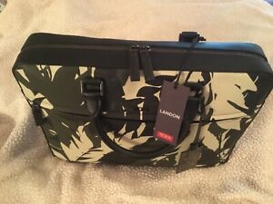 Tumi Landon Bradmoor Slim Leather Briefcase Laptop Bag 93800FP Reg $1500 NEW