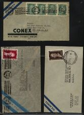 Argentina  3  covers  Eva Peron  stamps               KL0725