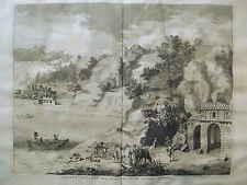 1705 Pieter van der Aa Lacus Agniani KUPFERSTICH Italien Lago Italia engraving