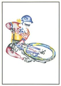 "John D Wibberley Cycle Art - Original ""Table Top"" Post Card 4.5"" x 6"""