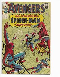 AVENGERS 11 - QUALIFIED G/VG 3.0 - SPIDER-MAN CROSSOVER - THOR - KANG (1964)