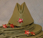 Pilotka Soviet Russia USSR army military uniform field hat Red star! size-58