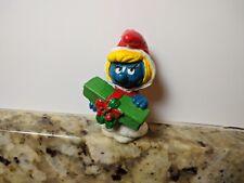 Smurfs Smurfette Christmas Present Figure 1981 Smurf Toy Figurine