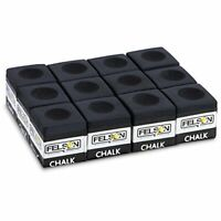 Pool Cue Chalk, 12-pack, Black
