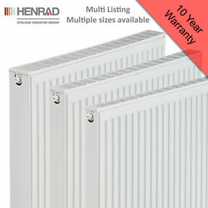Henrad Compact Radiator Type 11, 21 & 22 Central Heating System - Multiple Sizes