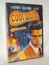 Cool World (DVD, 1992) Gabriel Byrne Kim Basinger Brad Pitt Ralph Baskshi film