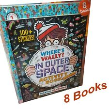 Where's Wally Amazing Adventures and Activities 8 Books Bag Collection Set NEW