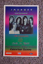 Journey Concert Tour Poster 1981 Syracuse New York Carrier Dome Dont Stop Belien